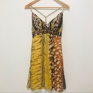 NWOT Vintage Sue Wong Dress Silk Leopard Print